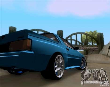 Mitsubishi Starion для GTA San Andreas вид изнутри