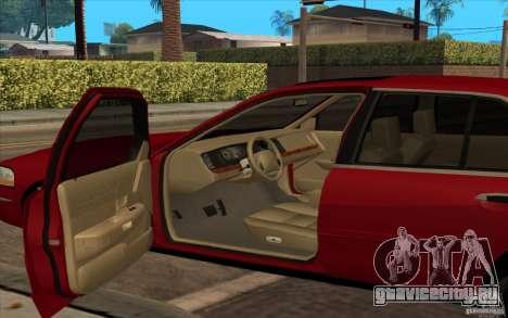 Mercury Grand Marquis 2006 для GTA San Andreas вид сзади слева