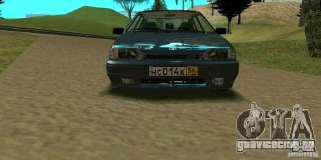 ВАЗ 2114 для GTA San Andreas вид снизу