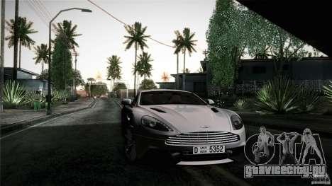 Aston Martin Vanquish V12 для GTA San Andreas вид сбоку