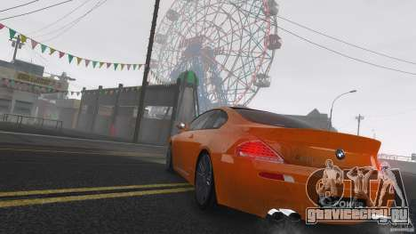 BMW M6 Hurricane RR для GTA 4 вид сверху