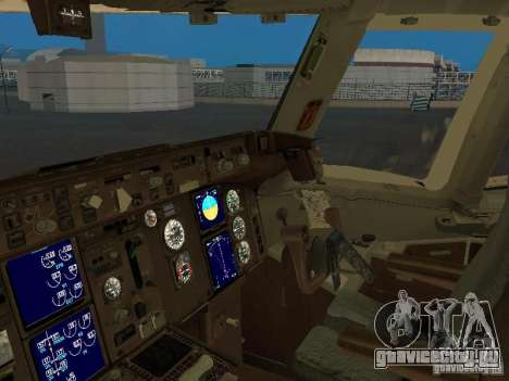 Boeing 767-300 British Airways для GTA San Andreas вид изнутри