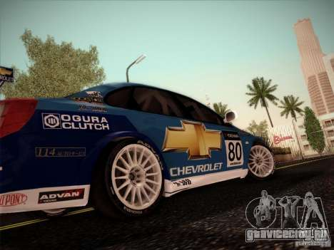 Chevrolet Lacetti WTCC v2 для GTA San Andreas вид сзади слева