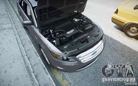 Ford Taurus SHO 2010 для GTA 4 вид снизу