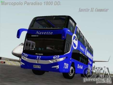 Marcopolo Paradiso 1800 DD Navette XL Coomotor для GTA San Andreas