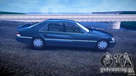 Mercedes Benz SL600 W140 1998 higher Performance для GTA 4 вид сзади