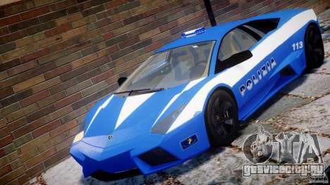 Lamborghini Reventon Polizia Italiana для GTA 4