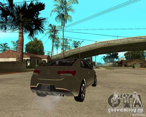 KIA Forte Coup для GTA San Andreas вид сзади слева