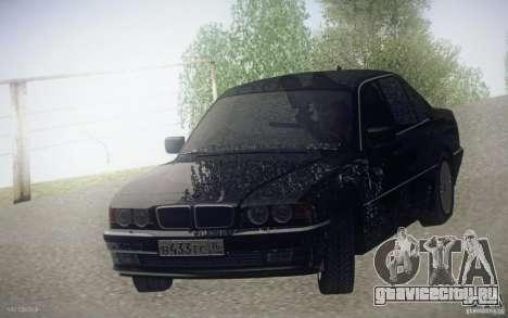 BMW 750i E38 2001 для GTA San Andreas вид сзади