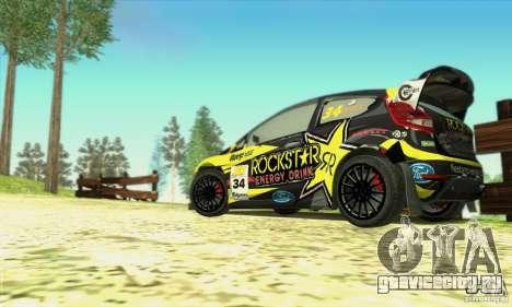 Ford Fiesta Rockstar Energy для GTA San Andreas вид сзади