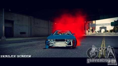 Red smoke under the wheels для GTA 4 третий скриншот