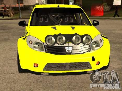 Dacia Sandero Speed Taxi для GTA San Andreas вид изнутри