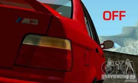 BMW  M3 Е36 для GTA San Andreas двигатель