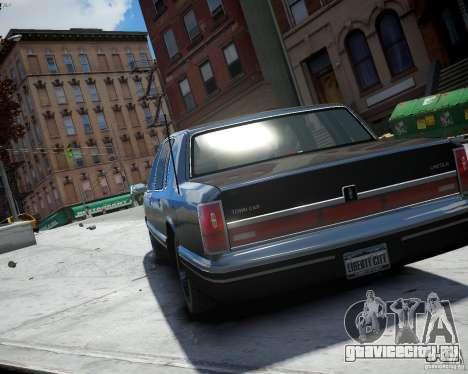 Lincoln Towncar 1991 для GTA 4 вид слева