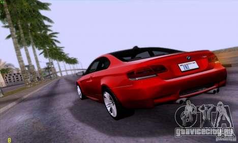 BMW M3 E92 v1.0 для GTA San Andreas вид слева