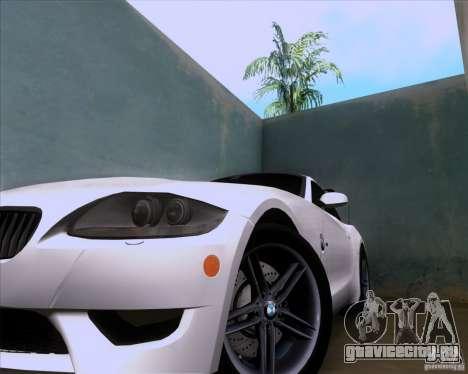 BMW Z4 M Coupe для GTA San Andreas вид сзади