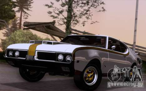 Oldsmobile Hurst/Olds 455 Holiday Coupe 1969 для GTA San Andreas вид сзади слева