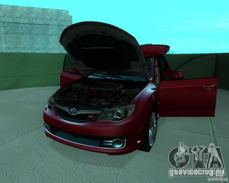 Subaru Impreza WRX STI Stock для GTA San Andreas вид сзади