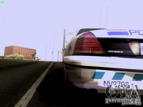 Ford Crown Victoria Canadian Mounted Police для GTA San Andreas вид сзади слева