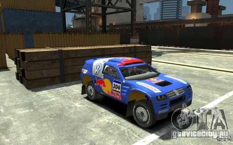 Volkswagen Touareg Rally для GTA 4 вид сзади