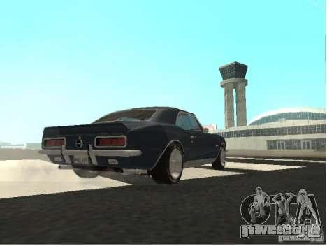 Chevrolet Camaro SS 396 Turbo-Jet для GTA San Andreas вид сзади