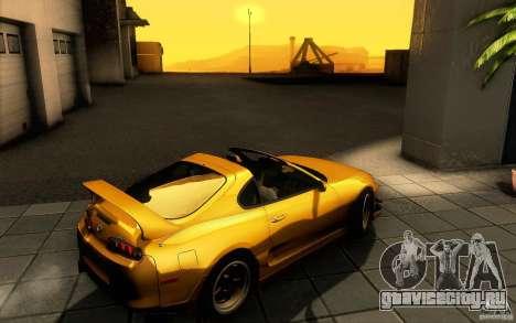 Toyota Supra D1 1998 для GTA San Andreas вид сзади
