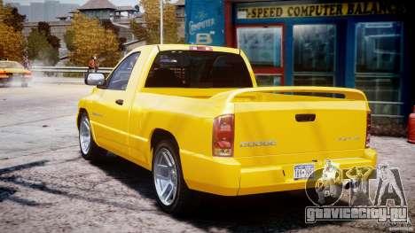 Dodge Ram SRT-10 2003 1.0 для GTA 4 вид сбоку