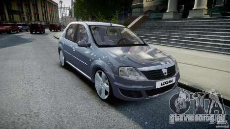 Renault Logan для GTA 4 вид сзади