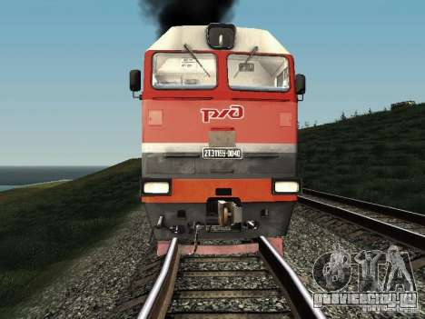 2ТЭ116У - 0040 РЖД для GTA San Andreas вид слева