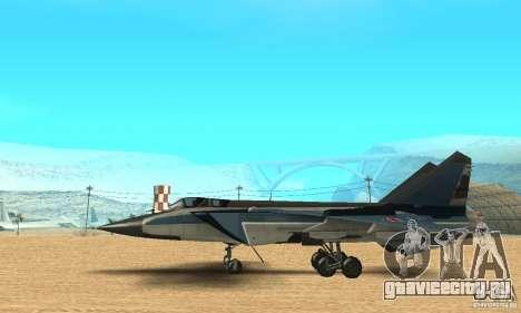 МиГ-31 Foxhound для GTA San Andreas вид сзади слева