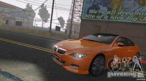 BMW M6 Hurricane RR для GTA 4 вид изнутри