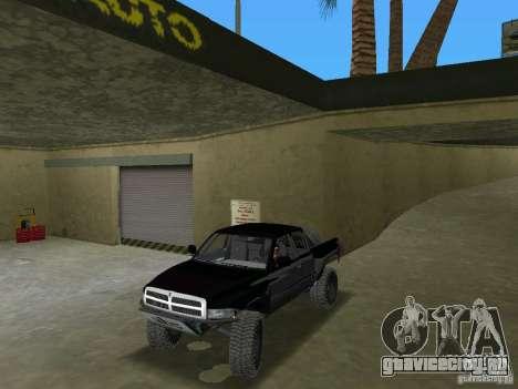 Dodge Ram Prerunner для GTA Vice City вид справа