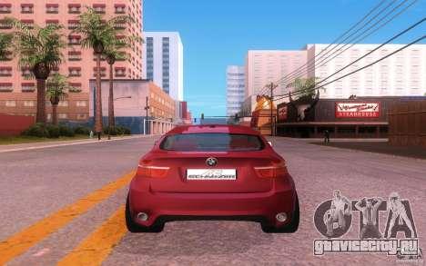 BMW X6 Tuning для GTA San Andreas вид сзади