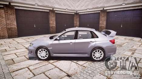 Subaru Impreza WRX 2011 для GTA 4 вид слева