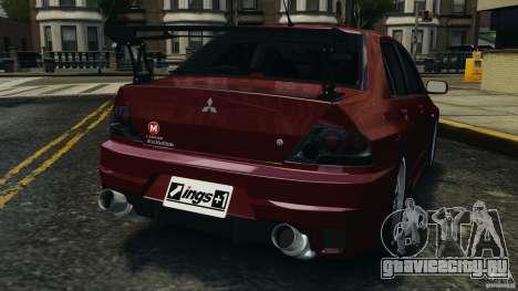 Mitsubishi Lancer Evolution 8 для GTA 4 вид сзади слева