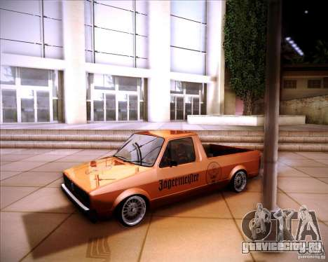 Volkswagen Caddy Custom 1980 для GTA San Andreas вид сзади