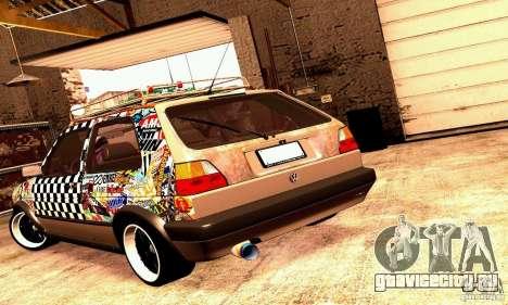 Volkswagen MK II GTI Rat Style Edition для GTA San Andreas вид справа