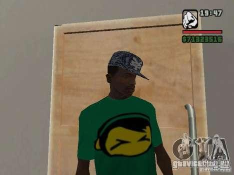 Кепка Zoo York для GTA San Andreas второй скриншот