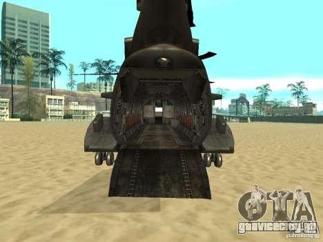 Вертолёт Leviathan для GTA San Andreas вид сзади слева