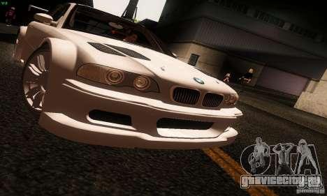 BMW M3 GTR v2.0 для GTA San Andreas вид сзади слева
