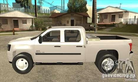 GMC 3500 HD Sierra Duramax Diesel 2010 для GTA San Andreas вид слева