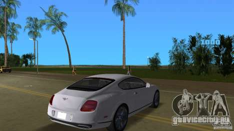 Bentley Continental Supersport для GTA Vice City вид справа