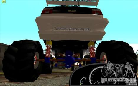Jetta Monster Truck для GTA San Andreas вид сзади слева