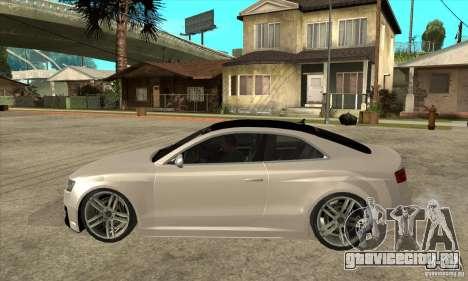 Audi S5 Quattro Tuning для GTA San Andreas вид слева
