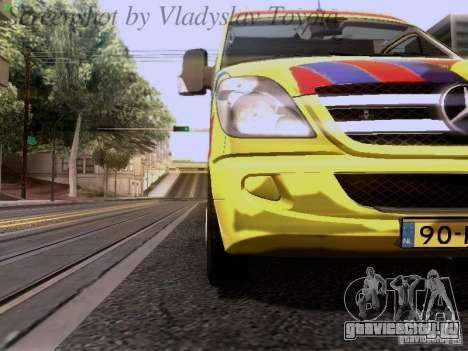 Mercedes-Benz Sprinter Ambulance для GTA San Andreas вид изнутри