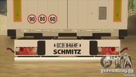 SchmitZ Cargobull для GTA San Andreas вид сбоку