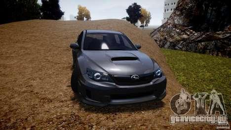 Subaru Impreza WRX STi 2011 для GTA 4 вид сбоку