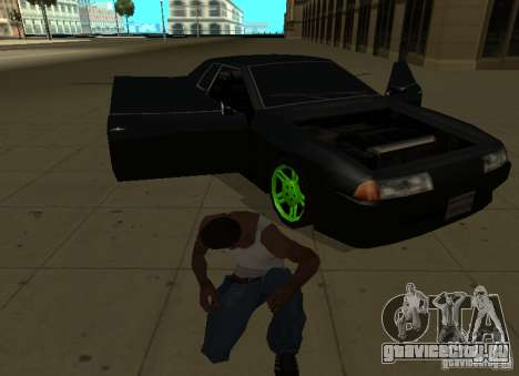 Elegy Green Drift для GTA San Andreas вид сзади
