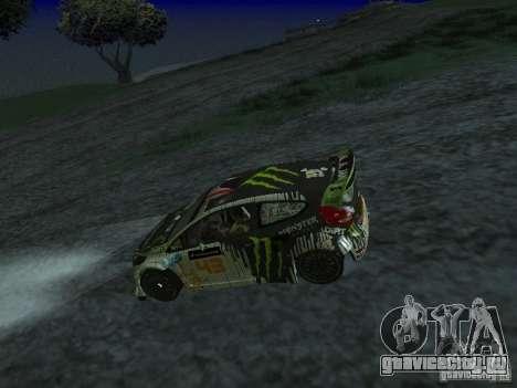 Ford Fiesta Ken Block WRC для GTA San Andreas вид справа