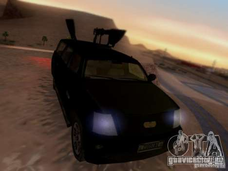 Suv Call Of Duty Modern Warfare 3 для GTA San Andreas вид сзади слева